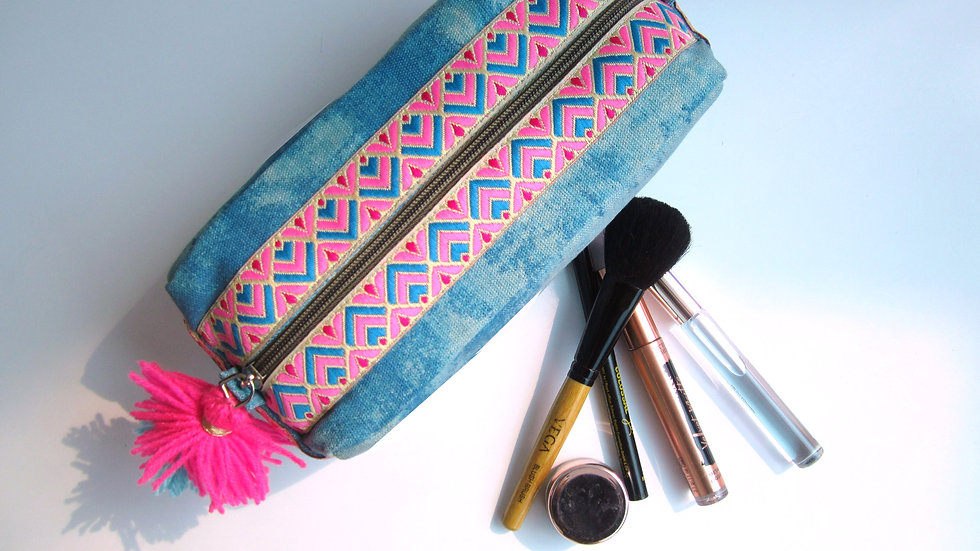 Powder Blue -Boho- Travel/cosmetic kit