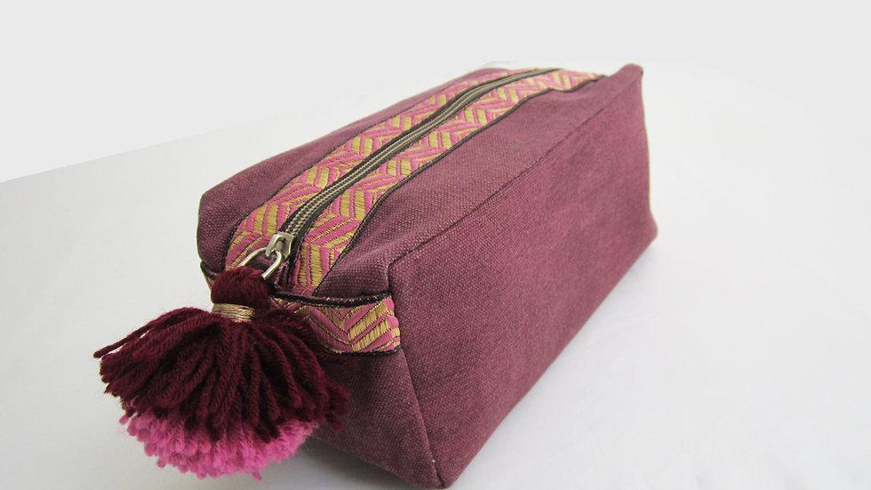 Purple/ Plum -Boho - Travel/cosmetic kit