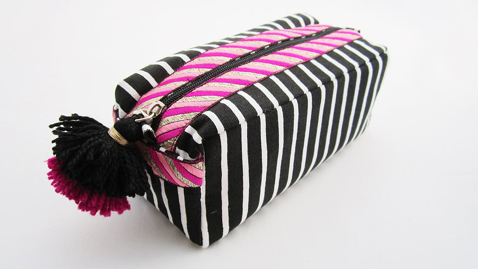 Black and Pink Travel/cosmetic kit