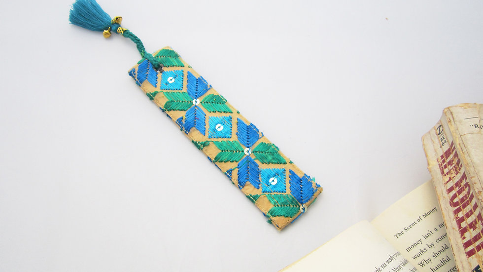 Blue and Green Bookmark