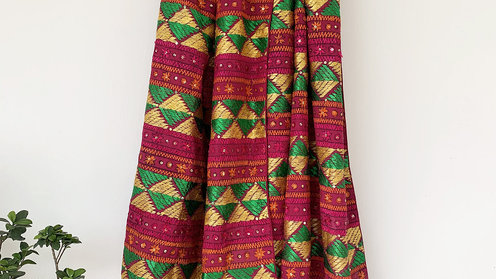 Purple and Multi color Phulkari Bagh