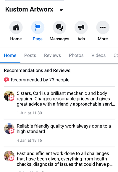 Reviews of our work