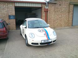 VW Beetle Herbie Stripes