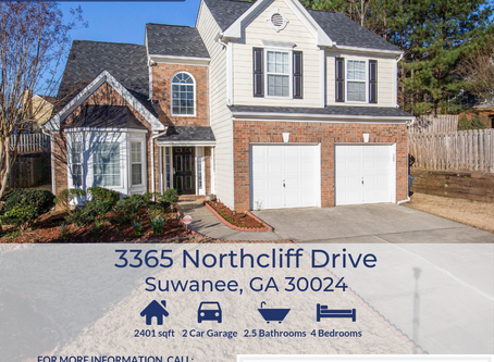 Just Listed! 3365 Northcliff Drive, Suwanee, GA 30024