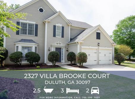Just Listed! 2327 Villa Brooke Ct, Duluth, GA 30097
