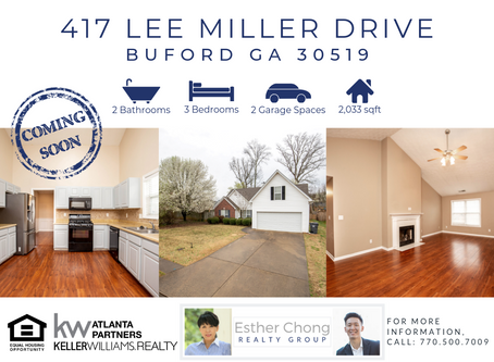 Just Listed! 417 Lee Miller Drive, Buford, GA 30519