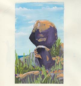 Landscape Painting - Rocks