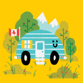 Happy Camper Illustration