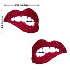 Bite Me Glitter Pasties - Neva Nude