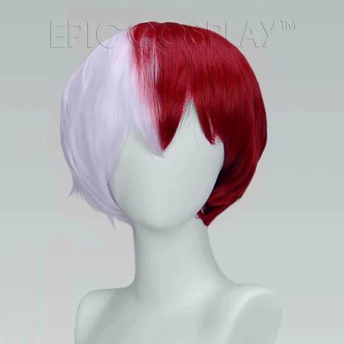 Aether Classic White & Dark Red Wig