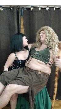 Warrior Princess and sidekick