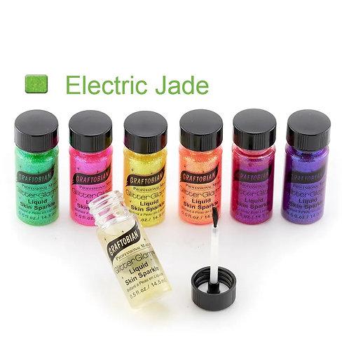GlitterGlam Liquid Skin Sparkle - Electric Jade