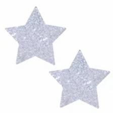 Silver Glitter Star Pasties - Neva Nude