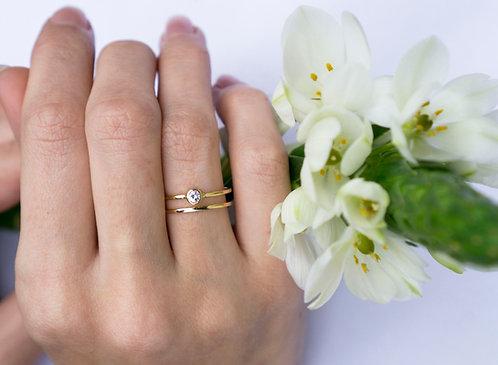 18kt gouden ring met diamant