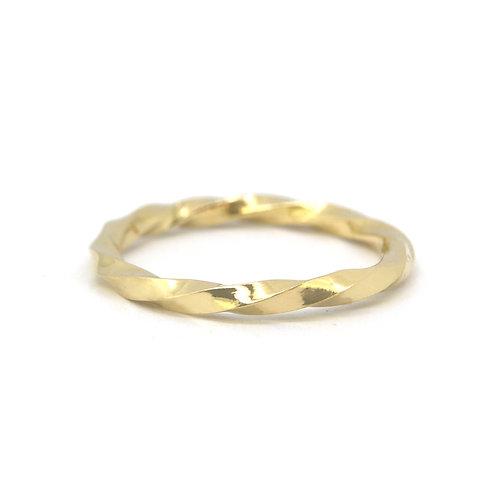 Getorste ring 18kt geel goud