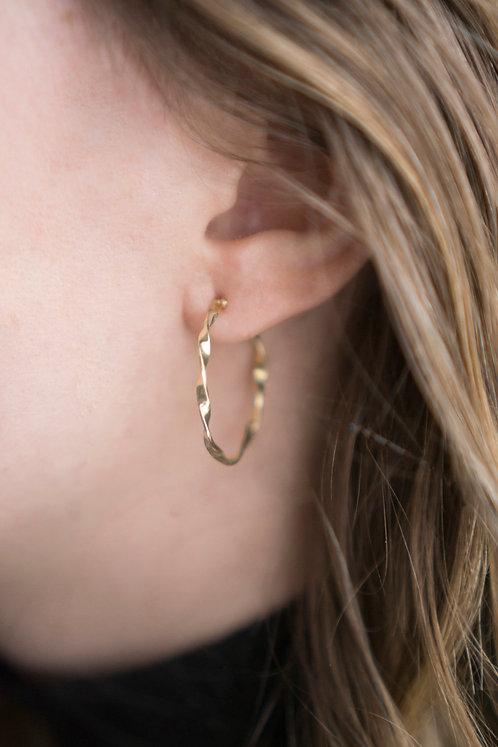 Twist oorbellen 18kt geel goud