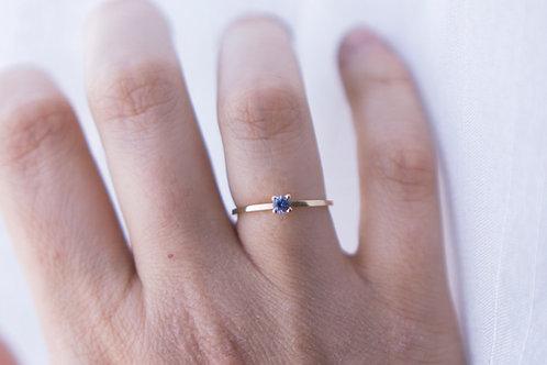 Petite sapphire ring