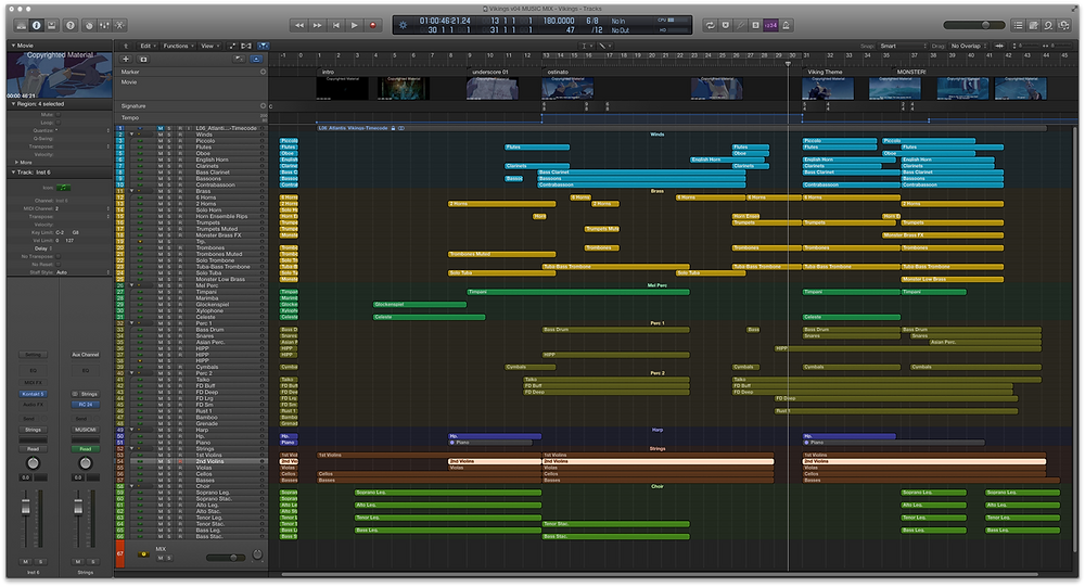 An example of film scoring template