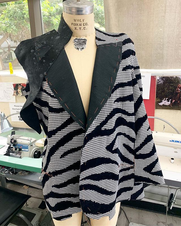Zebra Houndstooth Coat