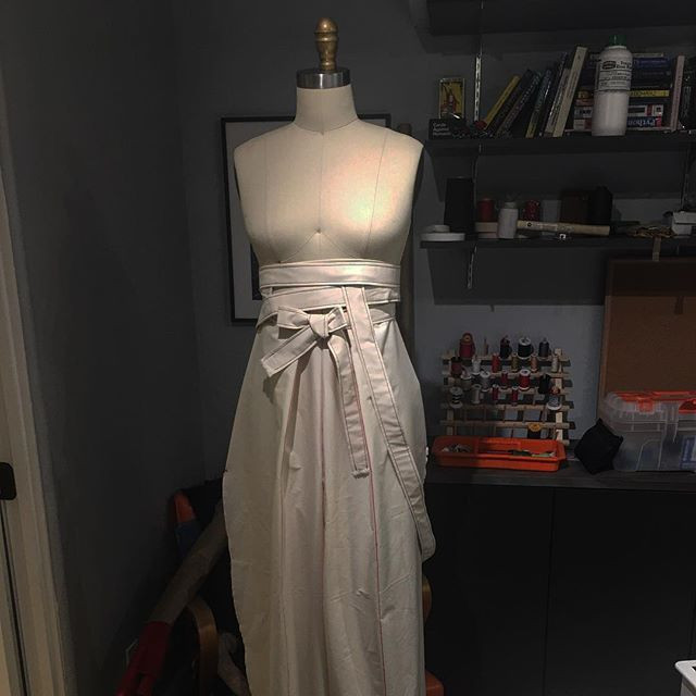 Late night draping project