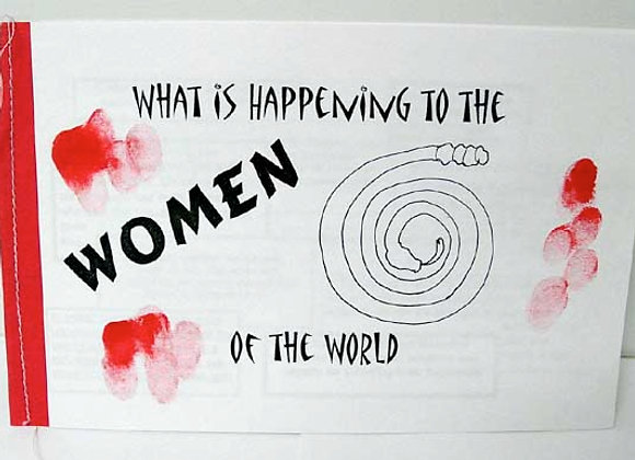 Whats Happening To The Women Of The World Book Sculpture