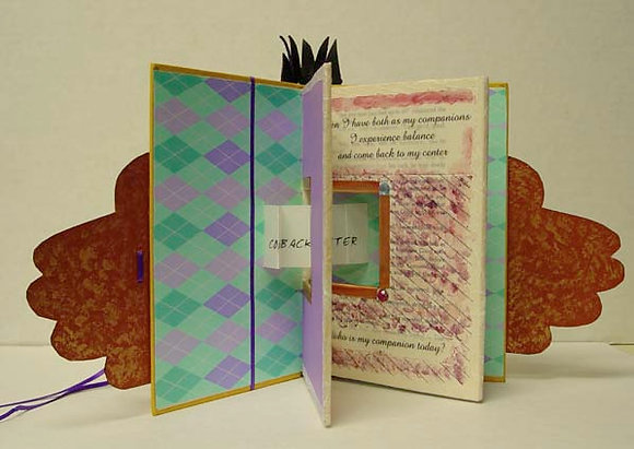 Come Back To The Center Altered Book