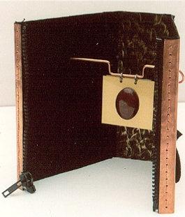 Copper Zipper Book Sculpture