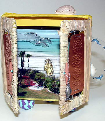 Venus In Paradise Book Sculpture