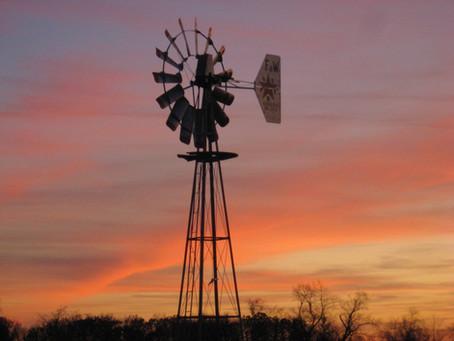 Flint & Walling 8' Model 37 Windmill at Sunset.