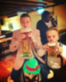 Midget Stag Hire Drinking Beer Little Yet Large