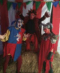 Halloween performers