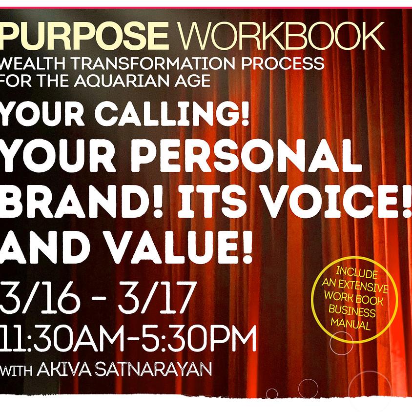 Purpose WorkBook 2-day Foundation Training