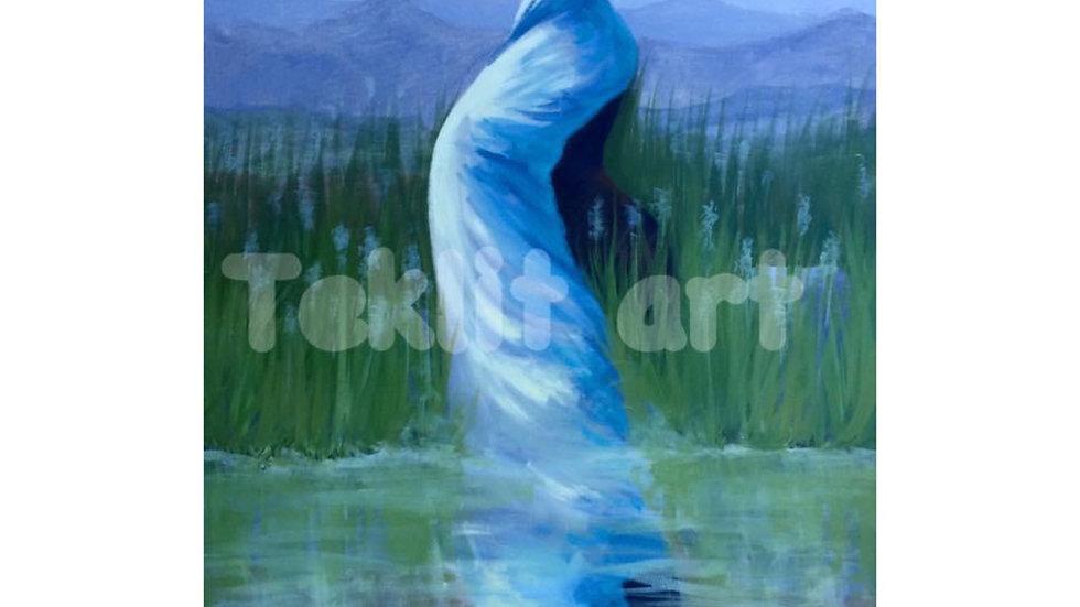 Meditation  30x48 Acrylic on canvas