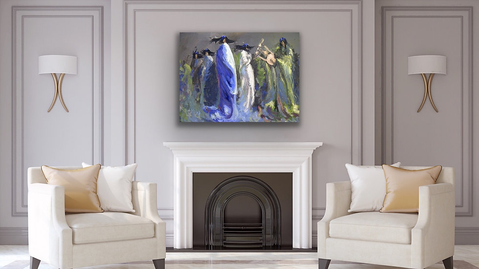 Dancing 24x36 print on stretched canvas
