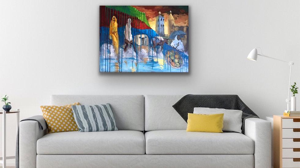 24x32 print on canvas