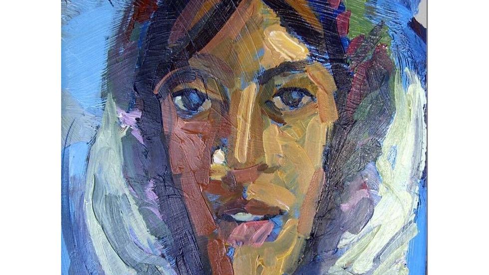 12x16  acrylic on paper original
