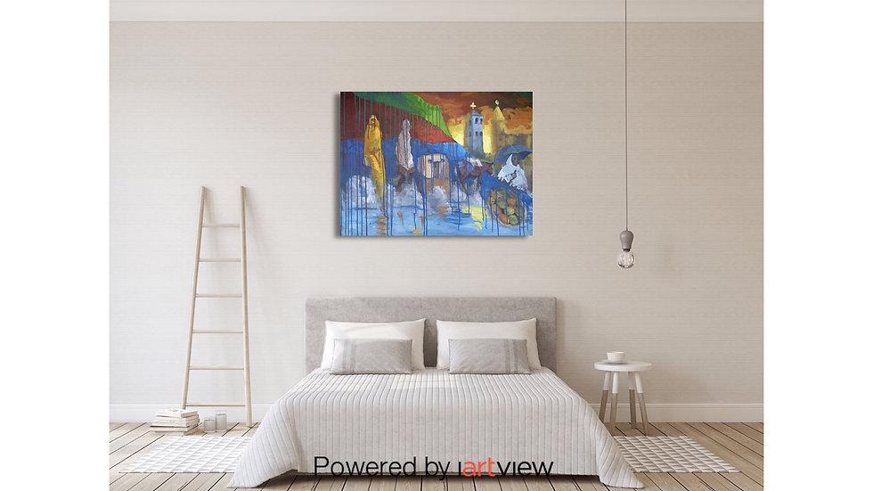 36x48 inches Acrylic on canvas original