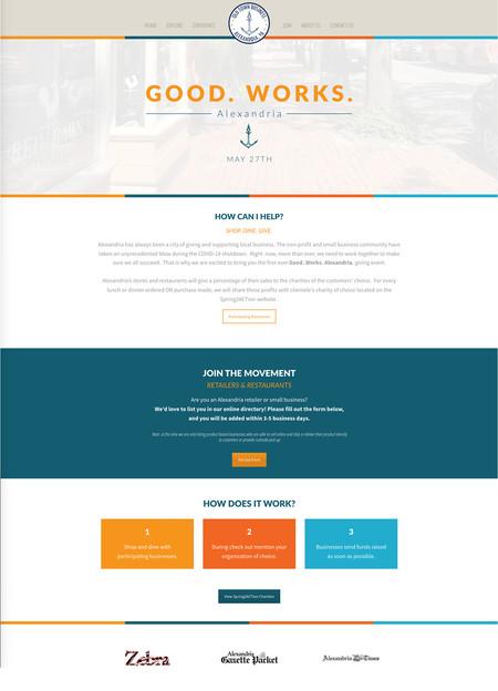 Good. Works. Alexandria Webpage example.