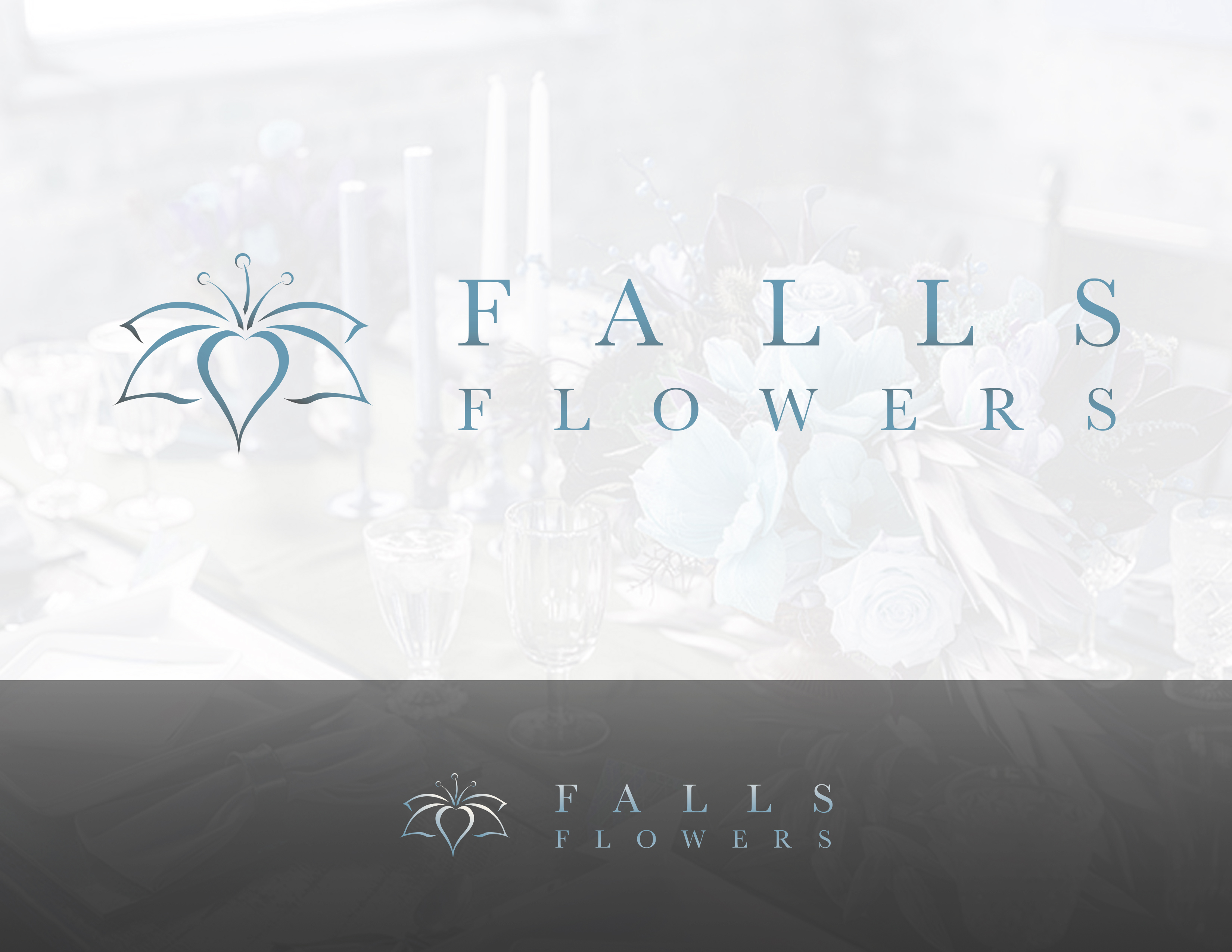 Falls Flowers Color Logo