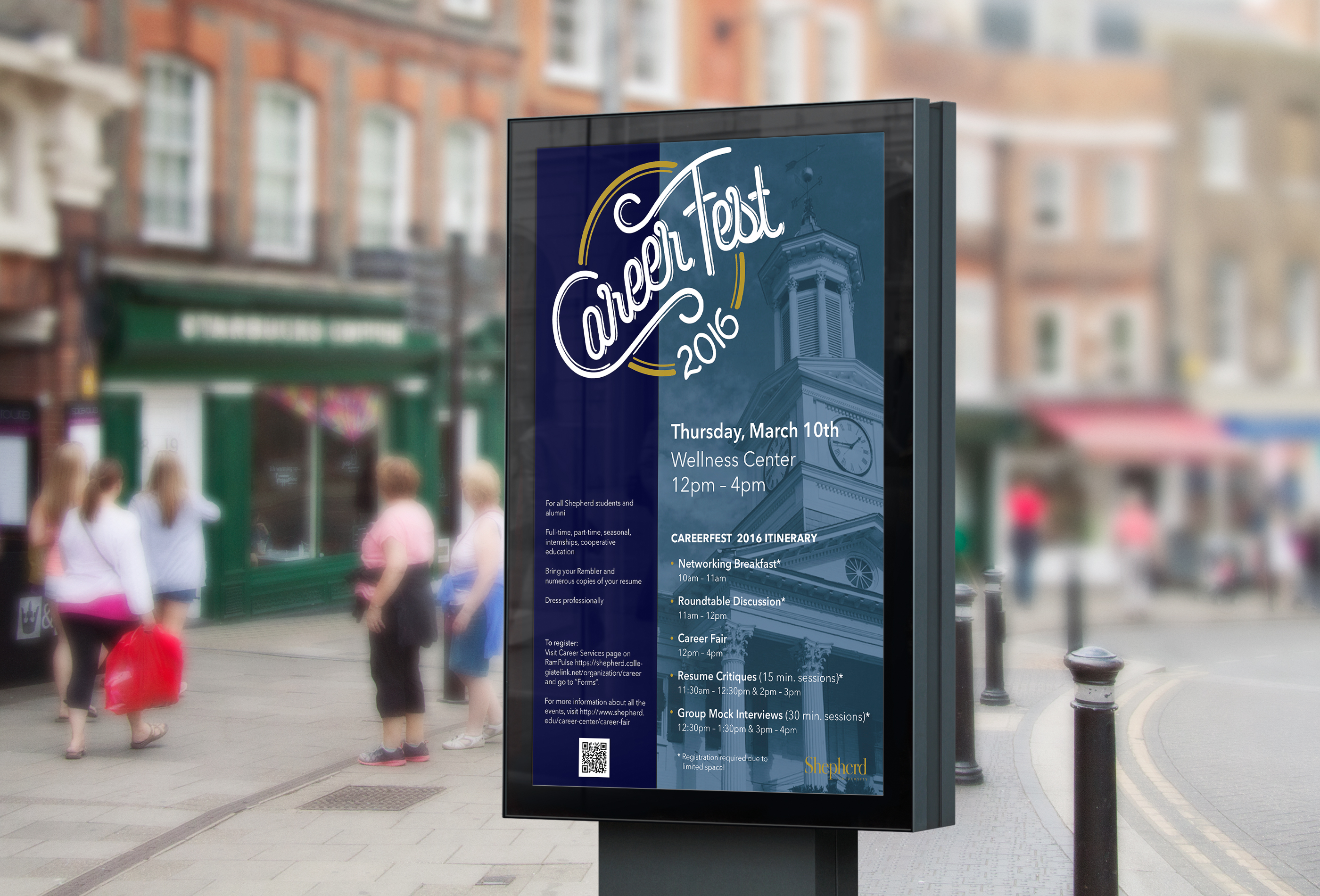 CareerFest Poster Mockup