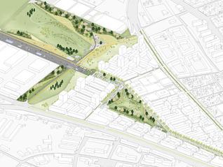 2 fase/ Quartiers- und Landschaftspark Berlin TXL Berlin Reinickendorf - Tegel