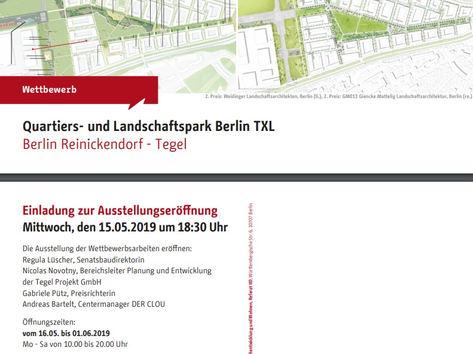 Esposizione del progetto selezionato per il nuovo quartiere e parco a Tegel a Berlino