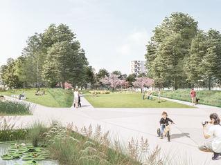 2 fase/ Quartiers- und Landschaftspark Berlin TXL Berlin Reinickendorf - Tegel - QUARTIERS PARK