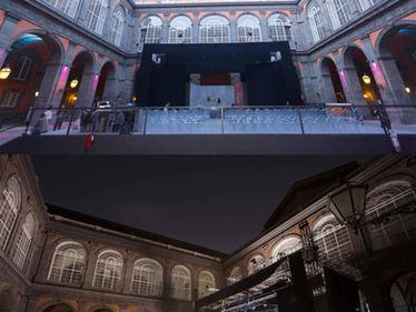 Progetto degli allestimenti esterni per il Napoli Teatro Festival