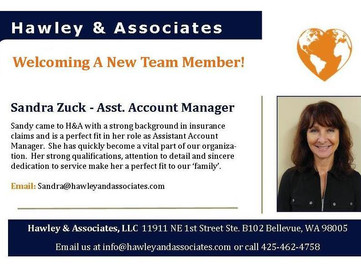 Welcoming A New Team Member to Hawley & Associates!