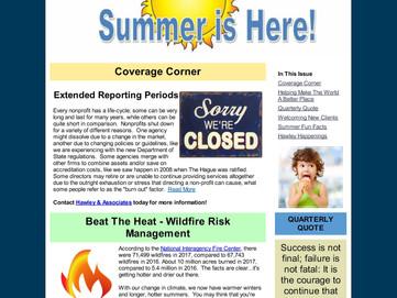 Summer Is Here!  Enjoy the Hawley & Associates 2nd Qtr. Newsletter!