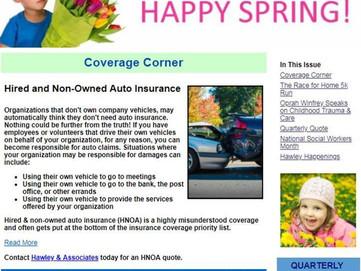 Spring Has Sprung!  1st Qtr. Hawley & Associates Newsletter!