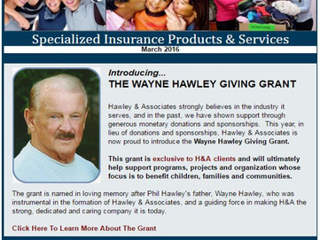 Check out the 1st Quarter Newsletter from Hawley & Associates!