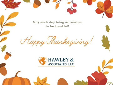 Happy Thanksgiving from Hawley & Associates!
