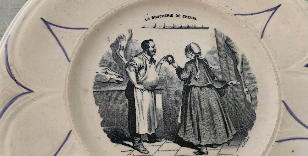 Lots de 9 Assiettes - Choisy Le roi -